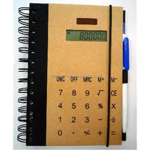 8-Digit Solar Office eco Notebook Calculator with Pen for Meeting Gifts