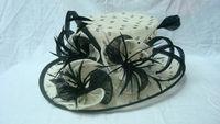 wholesale Fuchsia Organza sinamay fascinator hats for sale women church hats