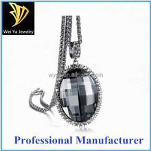 Fashion Accessories Necklace Grey Rhinestone Clothes Decoration Long Chain Necklace