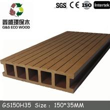 Eco-freindly wood plastic composite/WPC decking/2015 low price WPC board