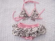 BKN002 Lovely baby toddler girl bikini swimsuit baby girl smocked swimwear 2015