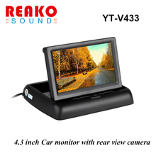"4.3"" Color TFT LCD Folding Car Parking Assistance Monitors DC 12V Foldable Car Monitor With Rear View Camera"