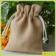 provide good quality punch of pocket/linen rope drawstring linen jewelry bag Jute