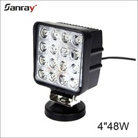 """Factory directly spot flood combo beam 4"""" 48w square led driving lights with CE ,Rohs"""