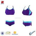 Color púrpura de la alta calidad de dos piezas deportes traje de baño