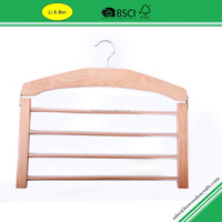 LM4505A Multi function Deluxe Mens Wooden Wholesale Pant Hangers