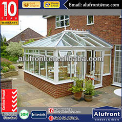 Aluminium Double Glass Sun Room with Curtain Wall System Roof