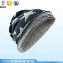 men and women winter wool knitted hip-hop Five-pointed star hats