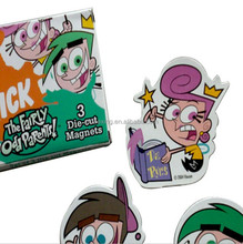 Plastic fridge magnet cartoons/acrylic fridge magnets/souvenir fridge magnet