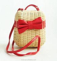 Wholesale 2015 New Style Rattan Weave Coins&Key Bag In-Stock Straw bag