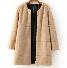 2015 women handmade faux fur lady PV plush coat