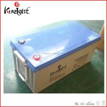 Solar batteries 12v 200ah gel deep cycle cells for PV system