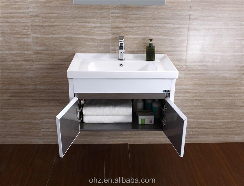 Waterproof bathroom vanity stainless steel white bathroom for Waterproof bathroom cabinets