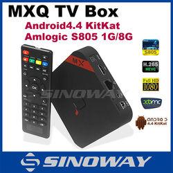 mxq quad core tv box full hd 1080p porn video xbmc KODI streaming Two MXQ Amlogic S805 for choice mxq tv box