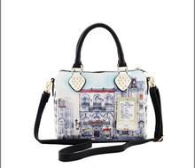 2014 new authentic handbag crocodile grain qiu dong first layer leather shoulder aslant female bag newest stylish handbag