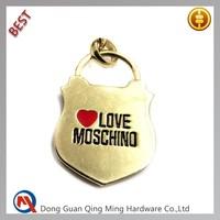 Gold Designer Metal Plate Logos for Handbag