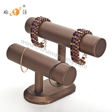 jewelry display rack leather material