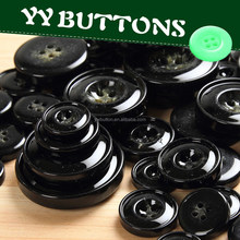 yiwu top grade various colors and sizes imitated resin horn toggle coat button