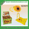 Pretty Yellow Sunflower Simulation Foldable Eco Reusable Shopping Bag