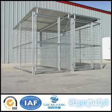 Large Dog Kennel With Roof Shelter Animals House With Fight Guard Divider