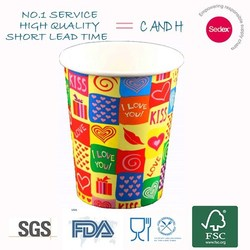 new design love story/honey moon decoration/wedding paper cup