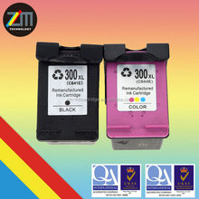 for HP 300 XL BK CL printer remanufactured ink cartridge
