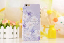 luxury white and purple lily flower PC smartphone case for iphone 6 6S 6+ plus