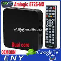 2014 DVB-S2 + Android amlogic 8726 mx m6 smart tv box dvb-s2