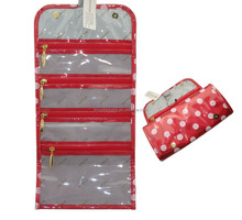 High quality hanging up wholesale travel toiletry bag for ladies