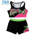 Bom design sublimada spandex uniformes cheerleading