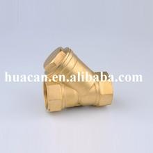 Caliente la venta de latón válvula de Y colador, Latón Y filtro de agua