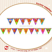 3D Wholesale Kids Birthday Party Supplies, kids party decorations,birthday glitter flag banner