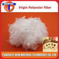 7D 15D virgin polyester stable fiber filling, hollow conjugated fiber
