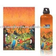 water bottle umbrella with vivid artwork