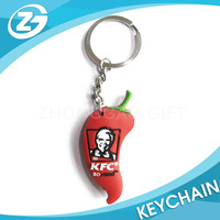 Manufacter OEM Logo Promotional Cute Fancy Custom Cartoon 2D Soft PVC Rubber Keychain