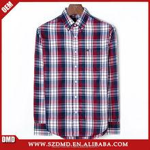 Adults fashion style long sleeve men plaid casual shirt
