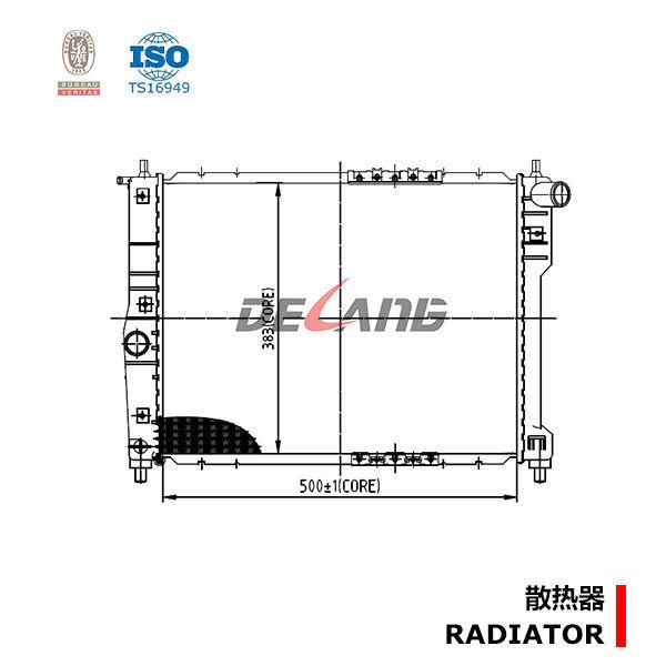 auto engine radiator manufacturer for daewoo lanos  1997