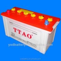 Car battery 12V dry cell battery N200 Korean standard for truck batteries