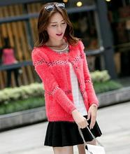 Online shopping top selling products plus size apparel mohair women sweater coat