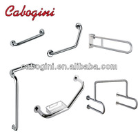304 stainless steel wall mounted toilet handicapped grab bars