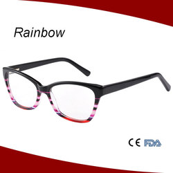 2015 Fashion china wholesale acetate optical frame & acetate temples eyeglass frame