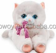 imprinted promotional custom soft plush stuffed Classic Kittens embroidery logo beanbag bandana t-shirt bib tie ribbon animal to