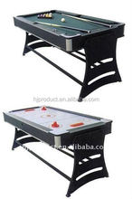 Beautiful Design Good Quality 5FT 2 in 1 Rotating Multi-Game-Table Air hockey with Snooker table