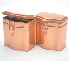 bow-front shape perfect tea or coffee packaging tin box