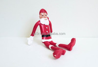 Skinny Bendy Santa Figurine toys,custom pvc santa bendable toys