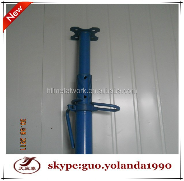 Shoring Posts Adjustable : Q adjustable height steel props shoring jack post pipe