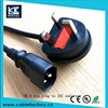 British UK 3 Pin Plug 230v AC Power Cord with Female Power Ends