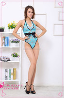 2015 newest hot style Blue teddy suit lingerie sexy nude teddy lingeries transparent nightwear for women