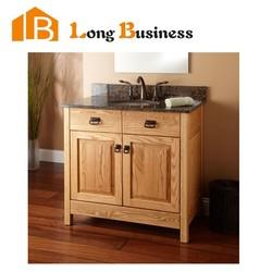 LB-LX2104 Modern solid wood bathroom cabinet with floor standing legs side vanity