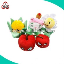 cheap plush small apple and vegetable toys for promotion